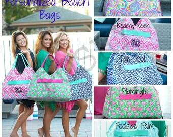 Monogrammed Beach Bag - Pool Bag- Large Beach bag -Gift for Her