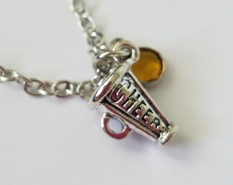 Megaphone Silver Charm Necklace, Cheer Necklace, Sports Necklace, Gift For Mom, Sister, Aunt, Friends Even Your Favorite Coach