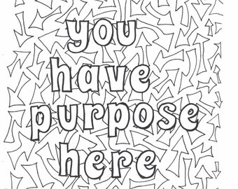 Self Esteem Coloring Pages Adult Inspirational Coloring Page ...