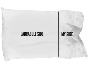 Labrabull Pillow Case - Labrabull Pillowcase - Labrabull Gifts - Labrabull Pillow Cover - I Love My Labrabull - Labrabull Dog Side My Side
