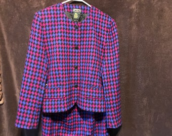 Charter Club Wool Skirt Suit 90s