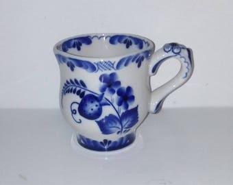 Old Russian Russia Handpainted Blue and White Creamer Porcelain