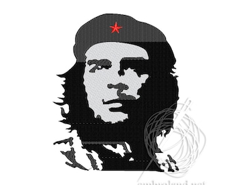 Che Guevara - Machine Embroidery Design - Instant Download - Three sizes