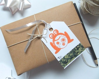 Gift Tags - Favor Tags - Frog Gift Tags - Gift Packaging- Generic Gift Tags- Thank You Tags -Birthday Gift Tags -Packaging Tags -Cute Tags