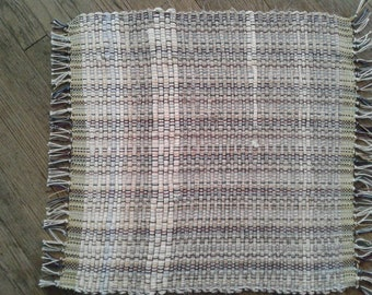 Grey hand woven placemat