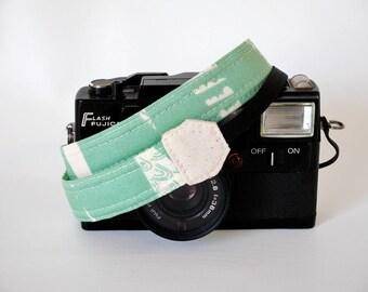 Mint green mirrorless camera strap, thin camera strap, 1'' wide, SLR DSLR camera strap, skinny camera strap