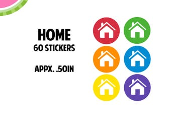Home/Rent/Mortgage Utility Icon Stickers | 60 Kiss Cut Stickers | IC050