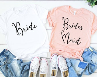 Bridesmaid Shirt. Bride Shirt. Team Bride Shirt. Bridesmaid T-Shirt. Bachelorette Party Tee. Bridal Party Tee. Getting Ready Shirt. Wife Tee