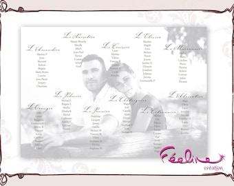 Photo prints personalized table plan custom table
