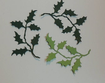 Leaf Style # 2 Die Cuts, Holly Leaves Die Cuts