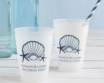 Personalized Frosted Wedding Cups