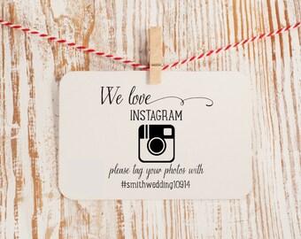 Instagram Wedding Stamp We Love Instagram Hashtag Stamp