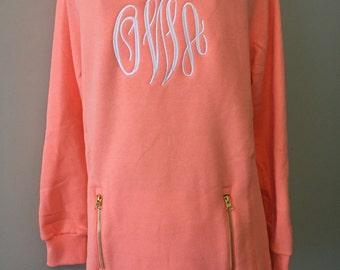 Monogrammed Sweatshirt, Monogram Pullover Sweatshirt, North Hampton Sweatshirt, Monogrammed Clothing, Monogrammed Gifts