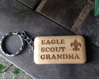 Scout Eagle Long Keychain
