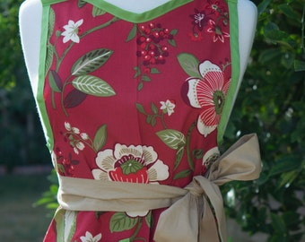 NEW - Apron - Vintage Style Retro - Southern Belle (Red)