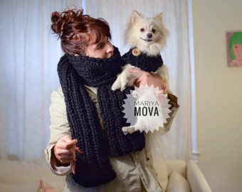 Merino matching scarves with your pet