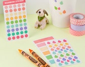 Transparent Planner Stickers ver.1 [3sheets] / Stationery / Diary Stickers / Journal Stickers / Scrapbooking Stickers / Decorative Stickers