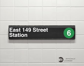 East 149 Street Station - New York City Subway Sign - Wood Sign