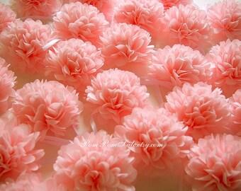 SALE - 30 Napkin paper pom pom / Napkin rings - Fast Shipping - Baby Shower / Birthday Party / Bridal Shower / Wedding Decoration