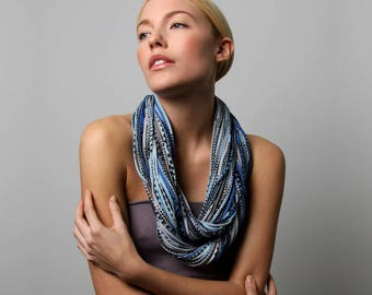 Infinity Scarf, Statement Necklace, Gift for Women, Mom Gift, Wife Gift, Sister Gift, Daughter Gift, Festival, Girlfriend, Girlfriend Gift