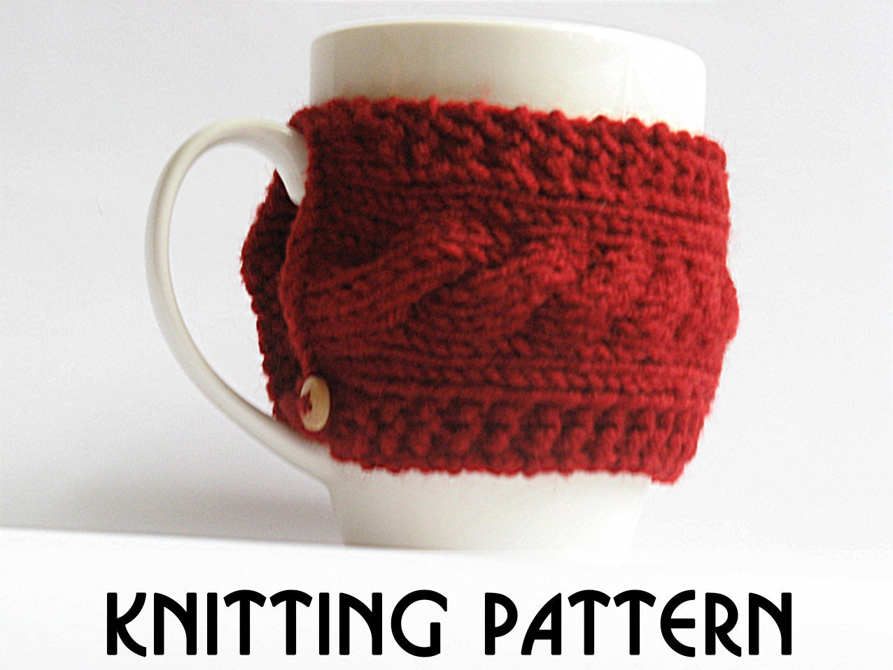 Cozy knit pattern, pdf knit pattern, coffee cozy pattern, cup cozy ...