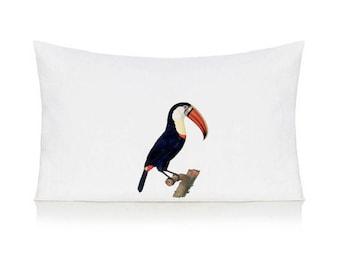 Toucan pillow case, cushion, bedding, pillow cover