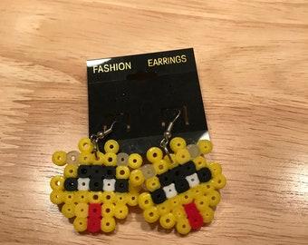 Dr. Mario Virus Perler earrings