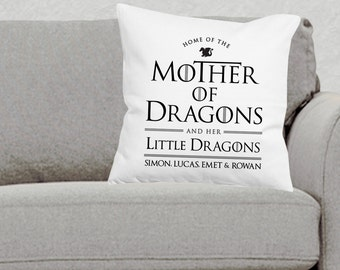 Game of Thrones Pillow, Game of Thrones Home Decor, Game of Thrones Decor, Game of Thrones Pillows, Mother of Dragons Gift