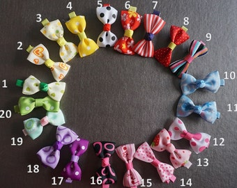2 inch Children 's Hair bow hair clips, hairpin set of 2, bow pin, hairclip, summer hair bows, baby hear clip set