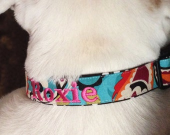 Monogrammed Dog Collar, personalized dog collar, monogrammed dog collar