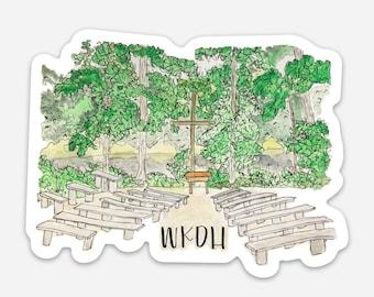 Camp WKDH Sticker