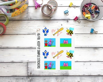 LARGE KeepItSimpleStickers Springtime Hand Drawn Planner Stickers