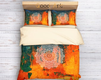 Bohemian Bedding Set, Boho Bedding Set, Hippie Bedding, Mandala Bedding Set, Ethno Bedding Set, Boho Duvet Cover, Indie Bedding Set