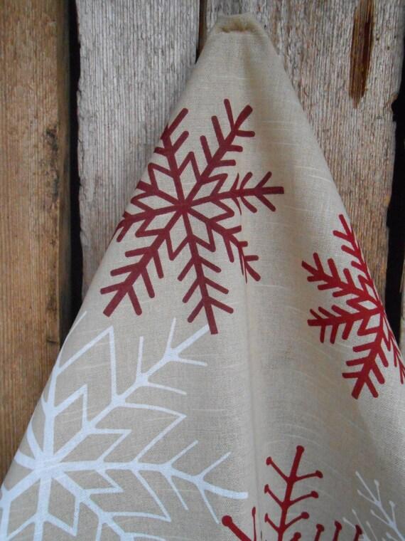 Geschirrtuch Küche Handtuch Weihnachten Dekor Schneeflocken