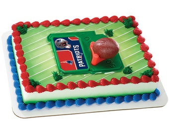 New England Patriots Football Cake Kit Cake Toppers  Decorations