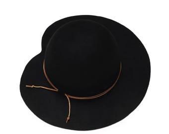 Classic elegant felt hat for women , hats for women , cloche hat , winter felt hat , elegant felt hat , womens hat , mens hat