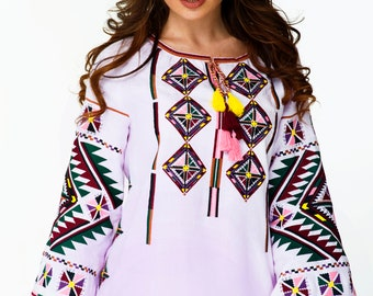 Ukrainian Vyshyvanka blouse Embroidered Women Dress Shirt