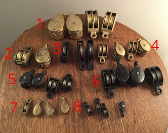 Petites poulies en métal vintage décoration Industriel antiquité idée cadeau noel anniversaire