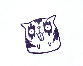 Stamp KISS CAT, red