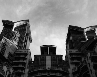 Architecture, Architectural Print, Architect, Gift For Architect, St Georges Wharf Vauxhall, Architecture Art, Architecture Gifts, Art Print