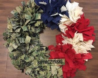 Uniform wreath, military wreath, Air Force wreath, army wreath, navy wreath