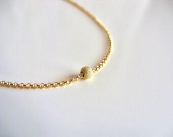 Choker Chain Necklace / 14K gold vermeil chain / Delicate choker / Dainty gold choker / Simple necklace