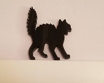 Halloween Cat Decor Door Frame Black