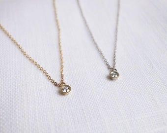 One diamond necklace