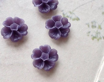13 mm Dark Purple Morning Glory Resin Flower (.ss)