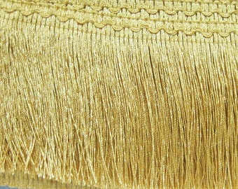 "5 Yards 3"" Gold Chainette Fringe, Gold Trim, Fringe tassel trim, Chainette trim, Gold tassel, Gold tassel trim, Wholesale, gold chainette"