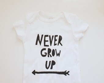 Baby Bodysuit- Never Grow Up