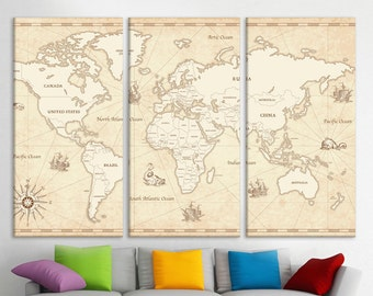 Travel pinboard etsy world map large unique world map world travel map canvas quote world map pinboard large map canvas prints picture on canvas pull down map gumiabroncs Choice Image
