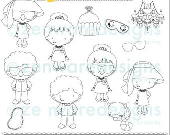 Chic Breakfast Digital Stamps Clipart