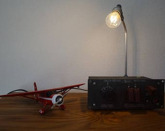 Vintage Aircraft Panel Table/ Desk Lamp